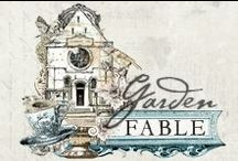 The Garden Fable Collection / Introducing a fresh and beautiful NEW Prima collection called Garden Fable! Perfect for those spring and summer projects, this gorgeous line has delightfully detailed, vintage birdhouses, bountiful floral imagery, and wonderfully layered text, all coordinated to make papercrafting FUN and EASY!