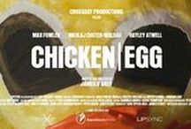 Chicken / Egg / 2016: Short comedy drama (15 min) written & directed by James D'Arcy. A magician & his uncle are entertainers at a children's party.. featuring Nikolaj Coster-Waldau in a chicken suit, Hayley Atwell (Lauren), Max Fowler (Mark). Filmed in April 2016 (1 month) in London. First (cast/crew) Screening: 21 Sept 2016.  Film Festivals (Jan. - June 2017) Awards:  3 Nominations: Bruce Corwin Award for Best Live Action Short at SBIFF, Best Short Fiction at LSFF, Best Short at RiverRun