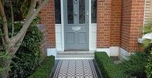 VICTORIAN TERRACE - KERB APPEAL / Home decor inspiration for the front of your Victorian terraced home. Contemporary and traditional Victorian tiled path ideas, paint colours and door furniture.