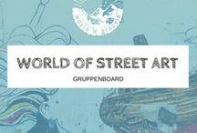 ❉ WORLD OF STREET ART ❉ / Street art is everywhere! Street Art ist überall!  Reiseberichte über Street Art Touren weltweit, oder Street Art Entdeckungen auf deiner Reise... Wer mitpinnen möchte, bitte einfach eine Nachricht an mich senden!