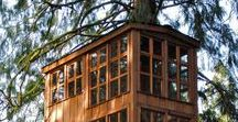 Treehouses / A fun addition to a garden is a treehouse! Dream big with these ideas.
