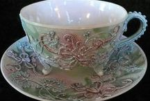 PRETTY CUPS, SAUCERS & MUGS / by Janet Alman