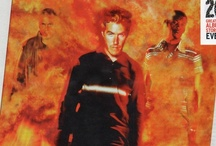 """3D, Daddy G And Mushroom / Pins of the """"3 amigos"""" of Massive Attack."""