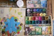 Watercolor Ideas and Techniques / by Jeanene Gioscia-Heuseveldt