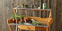 Garden Potting Benches / Potting benches can help you stay organized by offering a convenient workspace, and are a nice décor piece for the garden.
