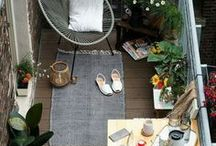 Outdoor space, roofdeck, terrace, deck / Inspiration and ideas on balconies and rooftops