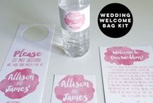 Wedding Welcome Bags Kits / Give your overnight guests a treat with our wedding welcome bag kits!