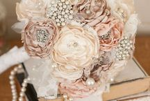 Bridal / Bridal bouquets and bridal hair pieces.