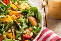 Soups + Salads / Whether you're hosting a dinner party or packing your lunch, these soups and salad recipes are full of heart-healthy protein.