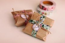 Packaging. / Pretty wrapping and packaging.