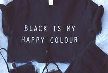 • all black • / all black everything!