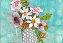 Blenda's Art / Shop for original art paintings by artist Blenda Tyvoll. Subjects include trees, flowers, birds, abstracts, and landscapes.