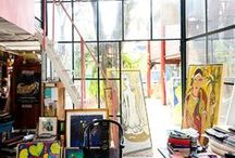 Artist's Studio / Peek inside the artist's studio. Get a feel for what inspires them to create. See photos from famous and not so famous artists past and present.