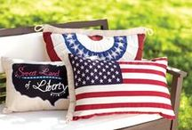 Americana Home Decor / Add a dash of Americana style to your home decor. From retro coolers and USA pint glasses to table runners and throw pillows, our affordable selection will have you showing off your pride in red, white and blue this summer and beyond.