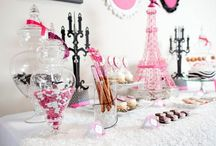 Paris Party / Event decor for Paris, Eiffel Tower themed birthday party.