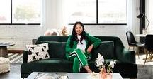Ayesha Curry's Workspace Makeover / Actress, celebrity cook, cookbook author and TV personality Ayesha Curry - assisted by design expert Taniya Nayak - elevates her workspace with affordable World Market finds. #Ayesha4WorldMarket