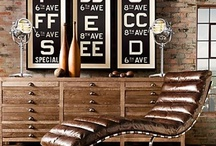 Industrial Chic / Weathered metal, worn wood & industrial artifacts play nice with textured fabrics and walls.