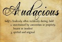 Audacious (my word for 2018) / God's Audacious Love for me