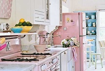 Kitchens / Love me some French Country and Big Chill Appliances