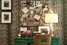 Office. Decor. Chic.  / Every career girl needs a chic office to conduct real business! An ode to office interiors!