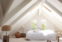 Attic  ₳doration / Attics - it reminds me of youthful thoughts of tree houses. A vast ( maybe drafty) place to store memories. The sent of old linens mixed with grandmothers perfume and cedar. A haven, a retreat a place where dreaming isn't considered adolescent just pure emotion mixed with ambition.