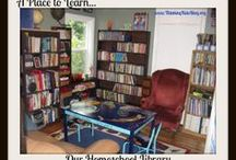 Homeschool Rooms and Storage / Ideas for homeschool rooms, libraries, bookshelves and study centers. / by Danika Cooley