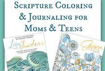 Christian Adult Coloring & Scripture Bible Journaling / Christian Adult Coloring & Scripture Bible Journaling