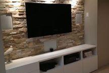 Basement AV area / Tv stuff for basement / by Carrie Wright
