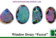Titanium Coated Window Drusy Cabochan And Natural Druzy Facetted Stones For Jewelry at Cheap Wholesale Factory Prices / Our Coated Window Drusy Cabochan and Natural Druzy Facetted Stones is natural Agate drusy coated with Titanium or other metallic compounds in a vacuum process which creates various iridescent colors and effects. This Stones Can be Made in the Window Cabochan Type as well as Flat or Facetted Window Drusy Types with Various Colors shade & Shiny effects. Sources: http://nathaan-gem-jewelry.com