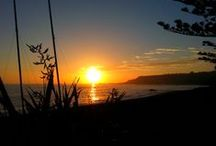 Sunrises & Sunsets in Kaikoura / We can get the most spectacular sunrises and sunsets in Kaikoura. Sunrises coming up over the sea and lighting up the snow capped mountains, and the sun setting behind the mountains. Glorious!