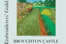 Broughton Castle Project Inspiration / Banbury & Districts branch of the embroiderers guild Broughton Castle Project in connection with the Embroiderers' Guild appointment by the Landscape Institute as a Partner in the Capability Brown Festival 2016, celebrating the 300th anniversary of his birth.