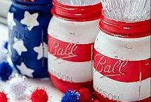 4th of July Inspiration / Decor, Craft and Recipe Ideas for the 4th of July Celebrations!