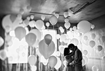 Couture Balloon Wedding Decor / Balloons can be an inexpensive way to make your wedding day fabulous!  Here are some photos for inspiration...