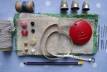 threads, needles & scissors