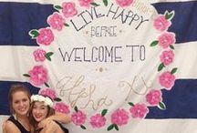 Alpha Xi Delta Banner and Letter Ideas / Get inspired by these creative banners and colorful letters! / by Alpha Xi Delta