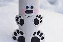 KIDS - Winter Crafts for Kids / Winter crafts for kids. Arts and crafts for kids to do in Winter.  / by My Little Me