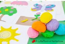 Kids - Playdough Mats / Playdough Mats for fun and learning with kids.  / by My Little Me
