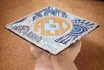 Graduation Cap Ideas / Inspiration for an Alpha Xi Delta themed graduation cap  / by Alpha Xi Delta