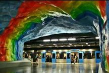 """¿Nos vamos en metro? /// Subway stations / Hacemos un recorrido por las estaciones de metro más """"chulas"""" del mundo. #metro #estacionesmetro #underground #subwaystation #subway"""
