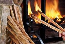 Relax By The Fire by Plow & Hearth / Fireplace, wood stove and hearth products: kindling, fire screens, fireplace accessories, fireplace screens, fatwood, wood stove steamers and more. / by Plow & Hearth