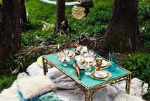 ⏁⏅ Picnic Witch ⏄⏂ / My perfect picnic would defy all the usual picnic rules! It would be an extravagant affair with china cups, velvet cushions and gourmet homemade food with fresh ingredients! Leave the plastic cutlery and pre-packed sarnies at home and add a touch of glamour to your outdoor dining!