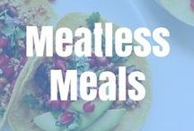 Meatless dishes / Tasty meatless recipes to keep you healthy and strong.