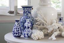 Blue & White favorites / Blue & White ornaments - creative spaces & looks!