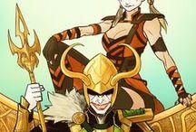 "Harley Quinn - ""I wanna cheese sandwich!"" / Harley Quinn, the Joker, Loki, Magneto, my ""bad guy"" board. ♥♡♥"