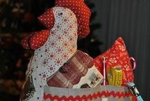CHICKENS AND SEWING AND CHICKENS / by Nancy Sallee