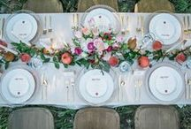 Tablescapes + Centerpieces / We LOVE a good wedding table set up. That's why we have a board just for collecting tablescape and centerpiece ideas for your wedding or party!