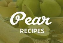BCTF Pear Recipes / BC Tree Fruits recipes featuring pears! The light green Anjou, the golden Bosc and the yellow Bartlett. Each sweet, juicy pear has a unique look and taste.