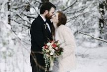 Winter Wedding Ideas / Planning a winter wedding? We have all the Christmas and winter wedding inspiration you'll need right here on Pinterest.