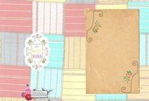 Wenskaarten collectie 'PASTEL CHECKS' KendieKaart by MOK STUDIO / Wenskaarten - Greeting cards