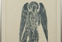 Art - Finland - Ina Colliander / Ina Colliander (1905-1985) is a Finnish artist. She is best known for her woodcuts. Angels were one of her favorite motifs.